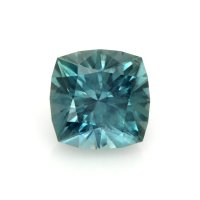 3.50ct Montana Cushion Greenish Blue Sapphire - U8462
