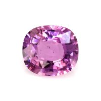 1.39ct Madagascar Cushion Purplish Pink Sapphire - U8528
