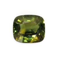 2.05ct Ceylon Cushion Greenish Yellow Sapphire - U8626