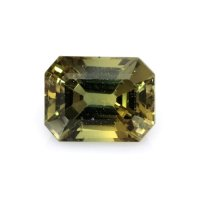 2.07ct Ceylon Emerald Cut Greenish Yellow Sapphire - U8627