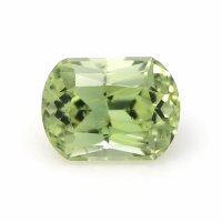 0.68ct Montana Cushion Yellowish Green Sapphire - U8727