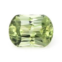 0.95ct Montana Cushion Greenish Yellow Sapphire - U8786