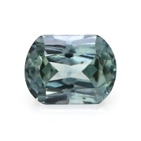 0.74ct Montana Cushion Greenish Blue Sapphire - U8842