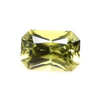 0.76ct Ceylon Radiant Greenish Yellow Sapphire - U9479