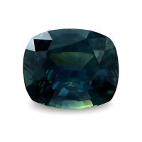 1.86ct Nigeria Cushion Greenish Blue Sapphire - U9600