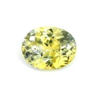 1.97ct Ceylon Oval Greenish Yellow Sapphire - U9619