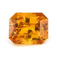 12.24ct Ceylon Radiant Yellowish Orange Sapphire - U9699