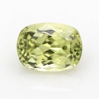 0.76ct Montana Cushion Greenish Yellow Sapphire - U9712
