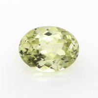 0.68ct Montana Oval Greenish Yellow Sapphire - U9714