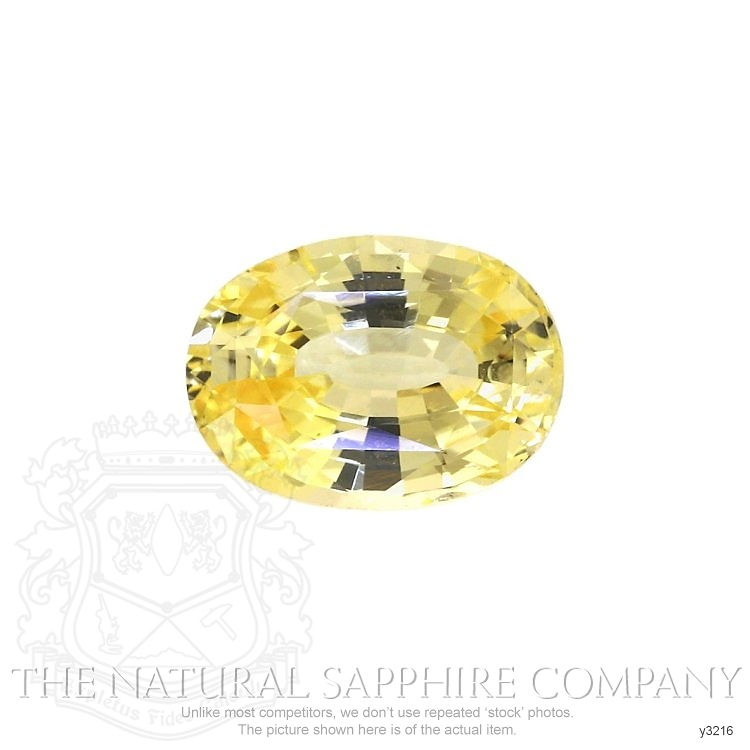 Natural Untreated Yellow Sapphire Y3216 Image