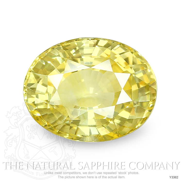 Natural Untreated Yellow Sapphire Y3362 Image