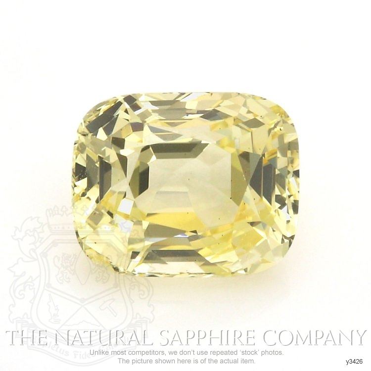 Natural Untreated Yellow Sapphire Y3426 Image