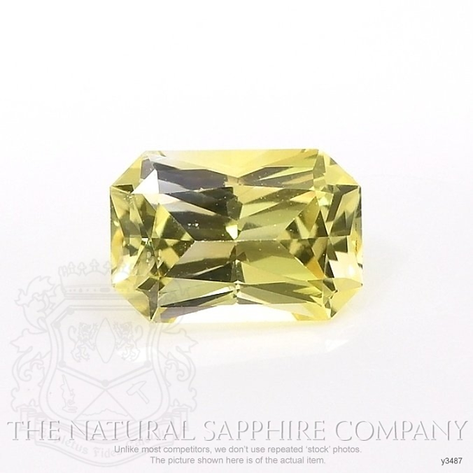 Natural Yellow Sapphire Y3487 Image