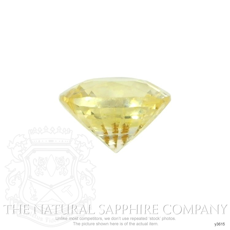 Natural Untreated Yellow Sapphire Y3615 Image 2