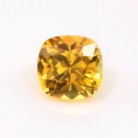 0.61ct Ceylon Cushion Orangish Yellow Sapphire - Y3654