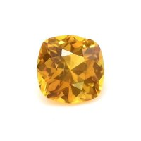 0.55ct Ceylon Cushion Orangish Yellow Sapphire - Y3655