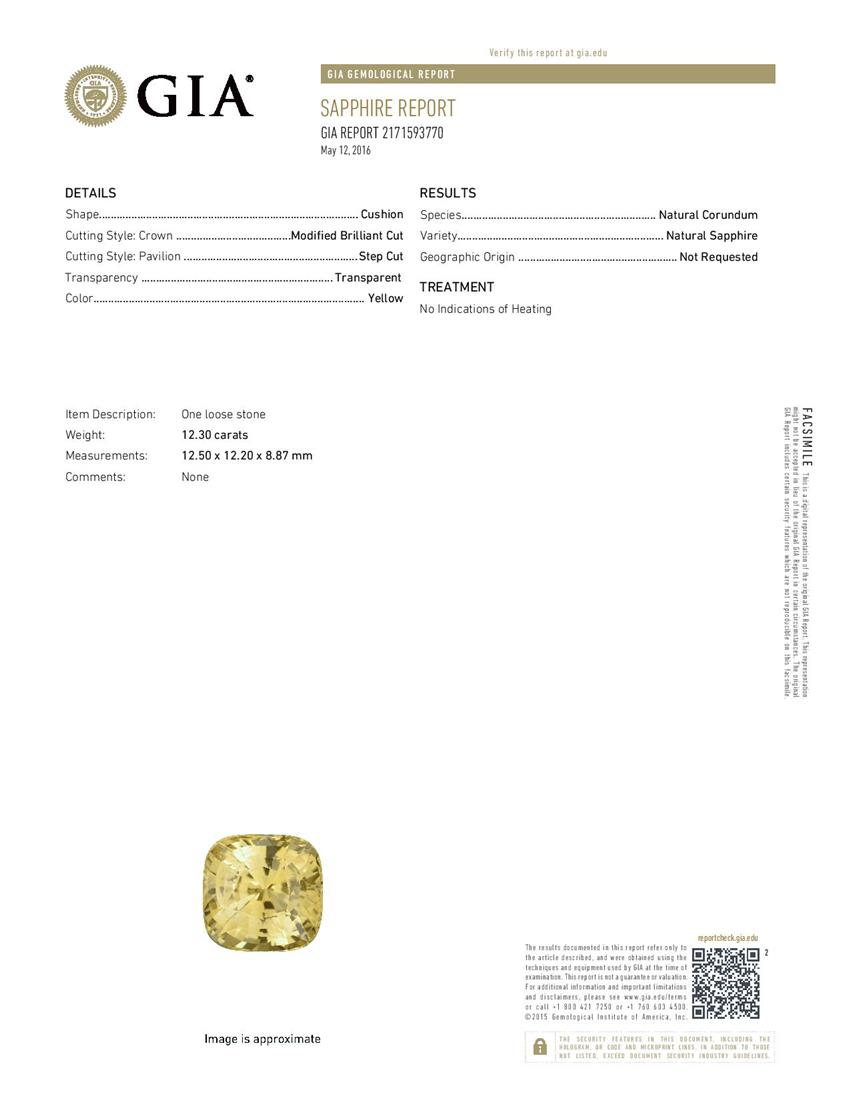 Natural Untreated Yellow Sapphire Y3696 Certification 3