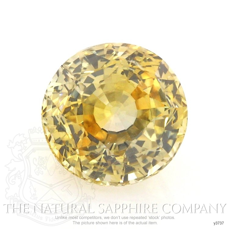 Natural Untreated Yellow Sapphire Y3737 Image