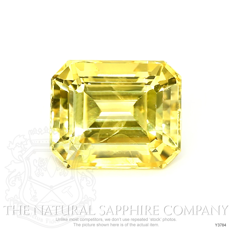Natural Certified Untreated Yellow Sapphire Ring in 18K White Gold Y3784 Image