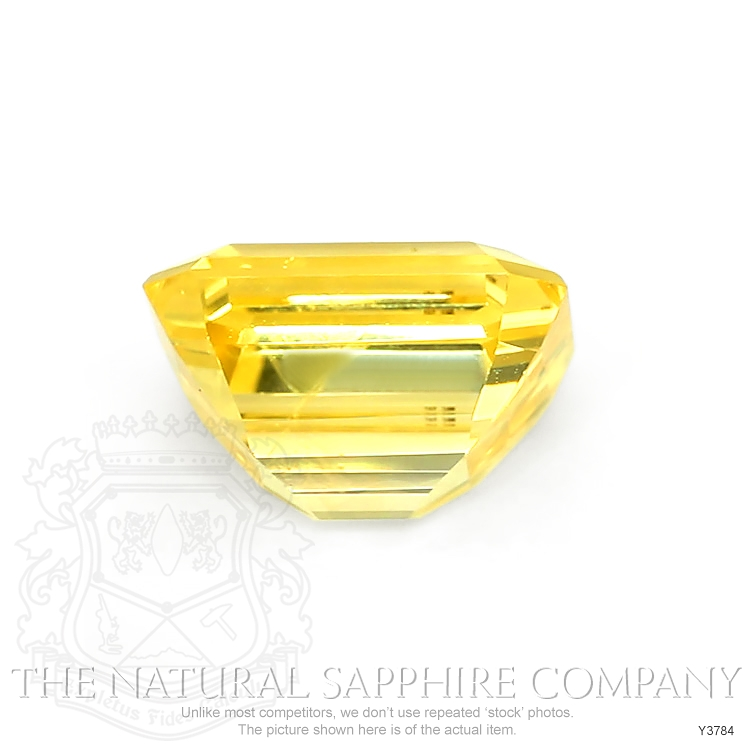 Natural Certified Untreated Yellow Sapphire Ring in 18K White Gold Y3784 Image 2