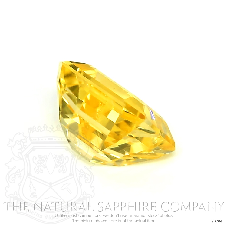 Natural Certified Untreated Yellow Sapphire Ring in 18K White Gold Y3784 Image 3