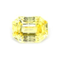 3.43ct Madagascar Emerald Cut Yellow Sapphire - Y3799