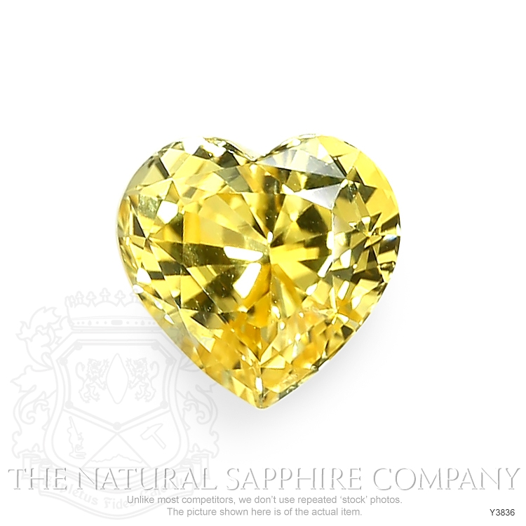 Natural Untreated Yellow Sapphire Y3836 Image