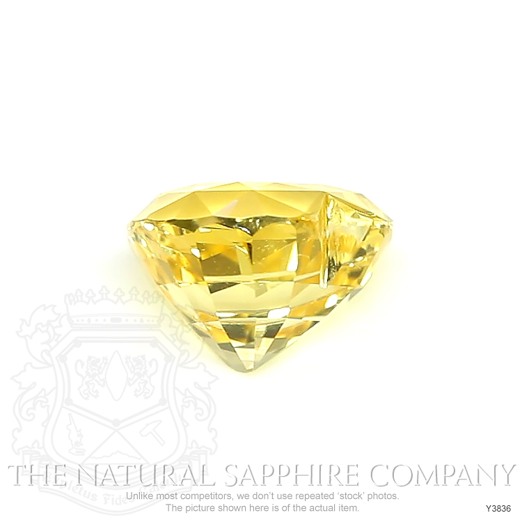 Natural Untreated Yellow Sapphire Y3836 Image 2
