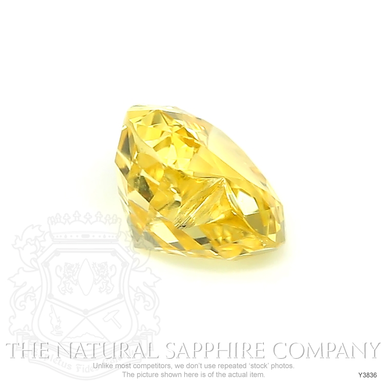 Natural Untreated Yellow Sapphire Y3836 Image 3