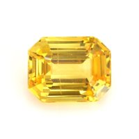7.62ct Ceylon Emerald Cut Orangish Yellow Sapphire - Y4452