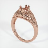 14K Rose Gold Ring Setting - JS10R14