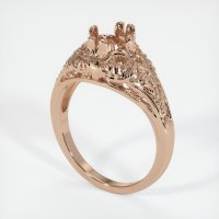 18K Rose Gold Ring Setting - JS10R18