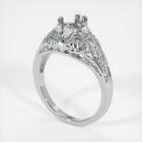 14K White Gold Ring Setting - JS10W14