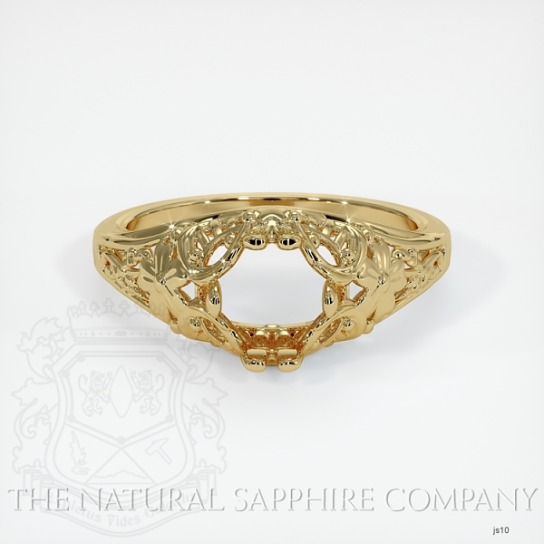 Antique Style Solitaire Ring Setting JS10 Image 2