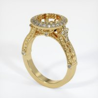14K Yellow Gold Pave Diamond Ring Setting - JS1004Y14