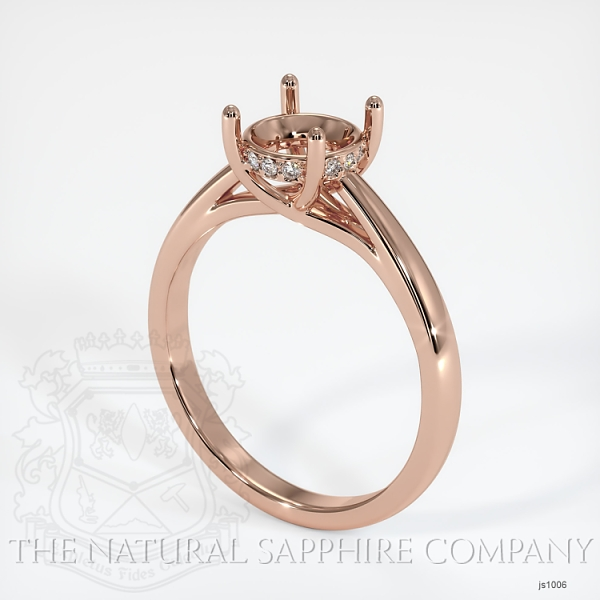 Cathedral Solitaire Ring Setting - Pave Diamond Basket JS1006 Image