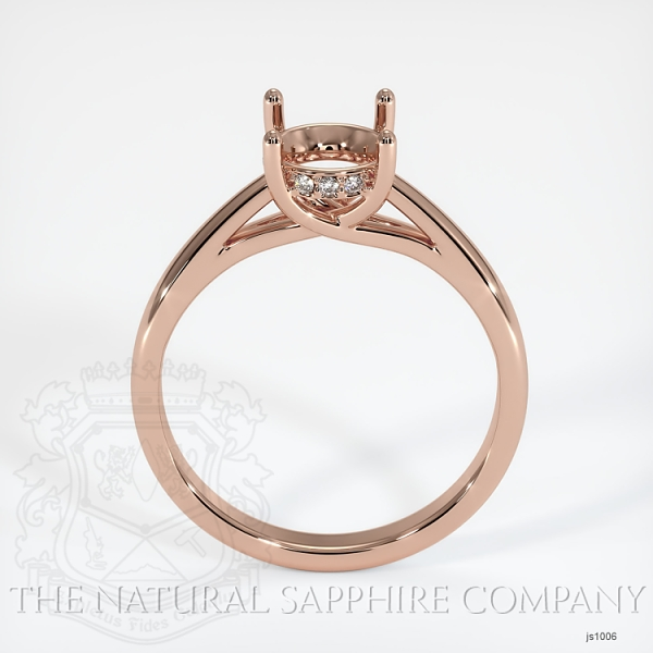 Cathedral Solitaire Ring Setting - Pave Diamond Basket JS1006 Image 4