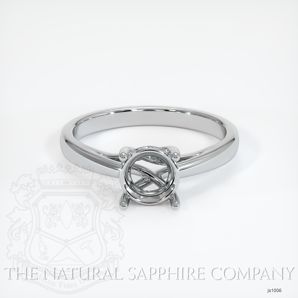 Cathedral Solitaire Ring Setting - Pave Diamond Basket JS1006 Image 2