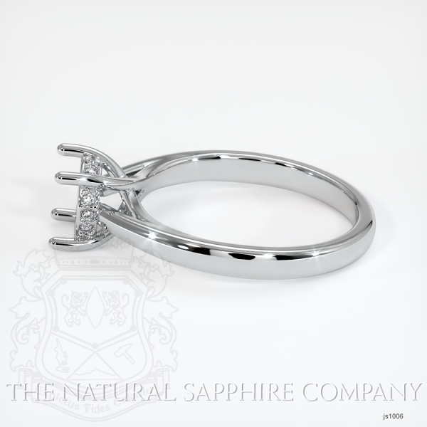 Cathedral Solitaire Ring Setting - Pave Diamond Basket JS1006 Image 3