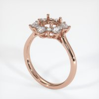 14K Rose Gold Ring Setting - JS1007R14
