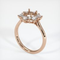 18K Rose Gold Ring Setting - JS1007R18