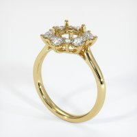18K Yellow Gold Ring Setting - JS1007Y18