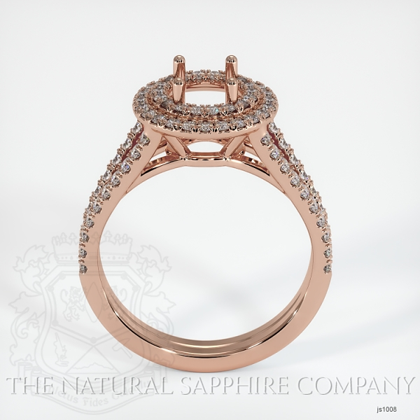Split Shank Double Halo Pave Diamond Setting JS1008 Image 4
