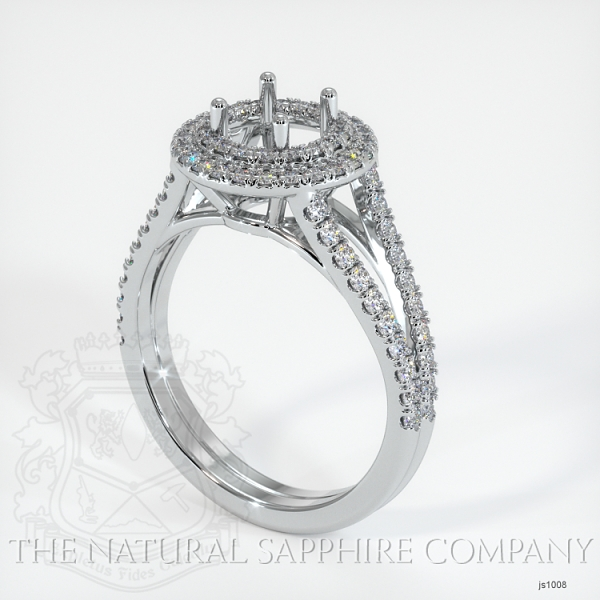 Split Shank Double Halo Pave Diamond Setting JS1008 Image