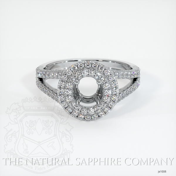 Split Shank Double Halo Pave Diamond Setting JS1008 Image 2