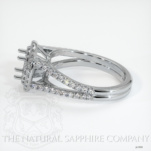 Split Shank Double Halo Pave Diamond Setting JS1008 Image 3