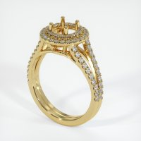 18K Yellow Gold Pave Diamond Ring Setting - JS1008Y18
