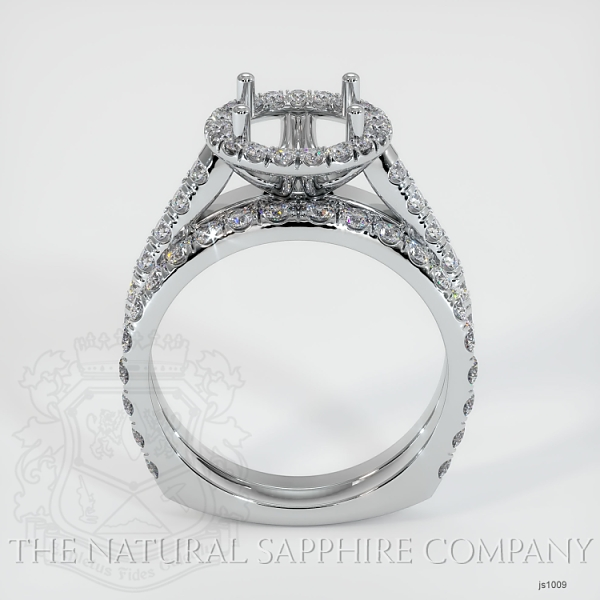 French Cut Diamond Halo Ring Set - European Shank JS1009 Image 4