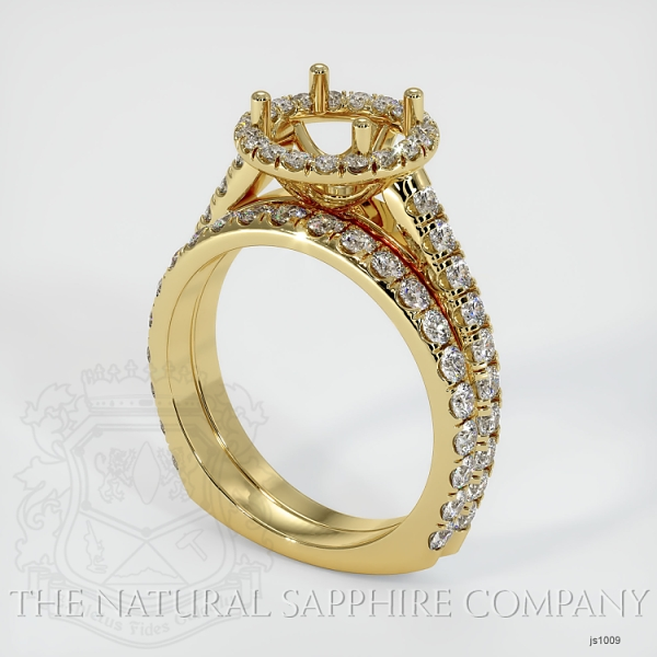 French Cut Diamond Halo Ring Set - European Shank JS1009 Image