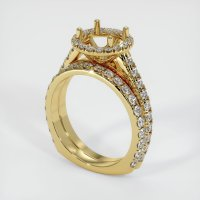 18K Yellow Gold Pave Diamond Ring Setting - JS1009Y18